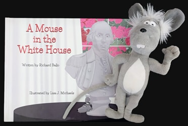Martin the Mouse Plush Toy and The Mouse In The White House Book